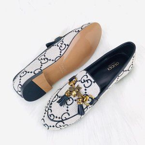 Gucci Jordaan Bee İnterlocking Loafer